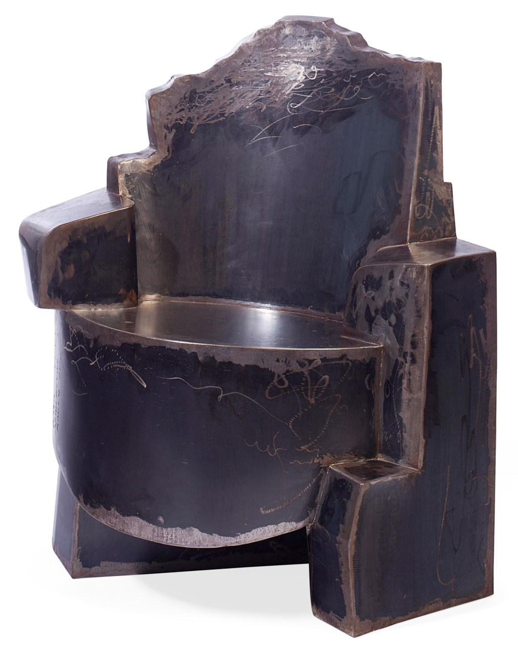AN AMERICAN STEEL ARMCHAIR
