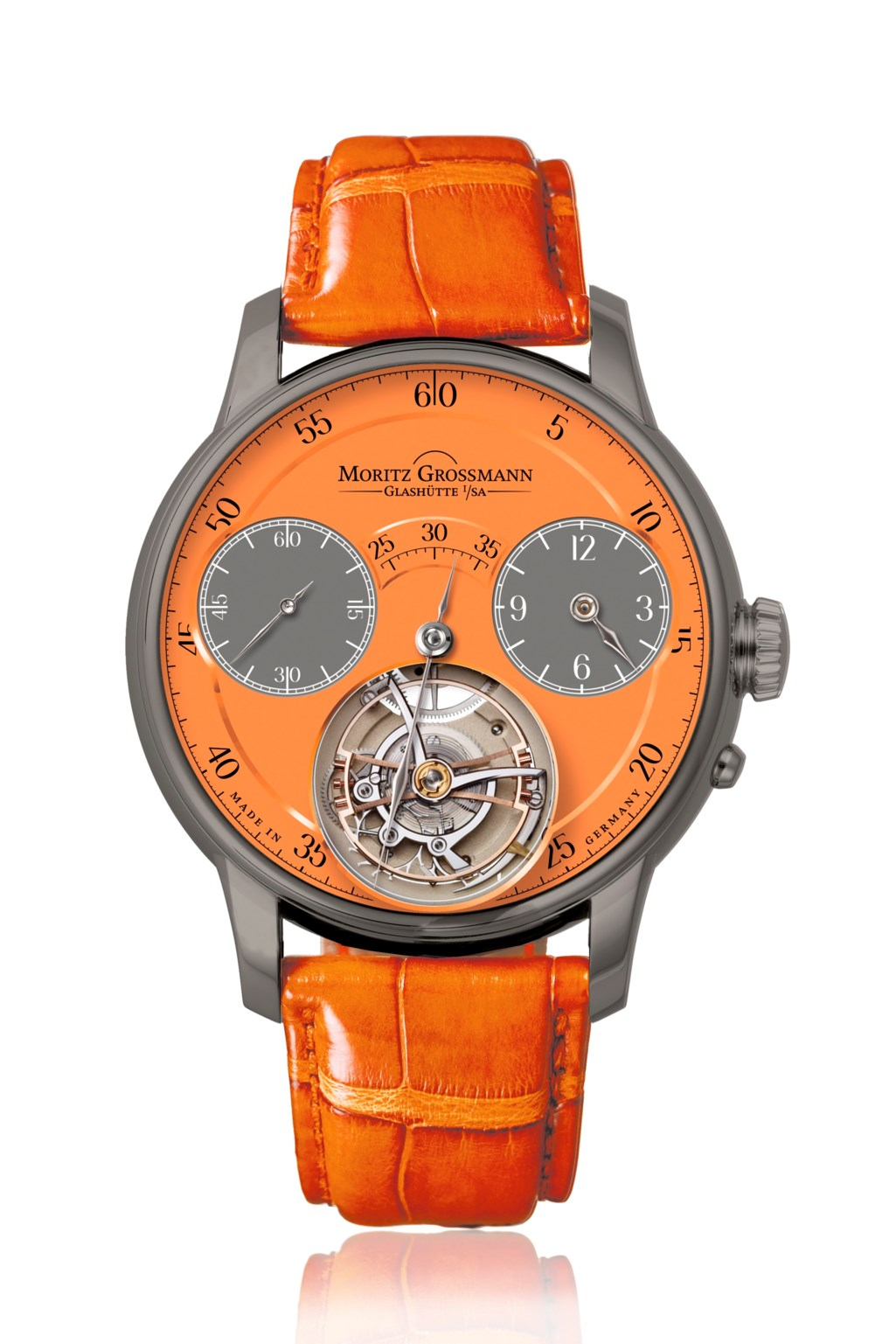MORITZ GROSSMANN, BENU TOURBILLON ORANGE TITANIUM, MG-002066