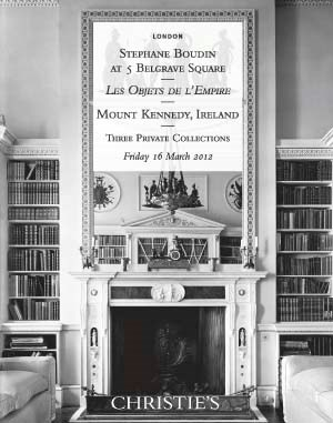 Stephane Boudin at 5 Belgrave Square, Les Objets de l'Empire & Mount Kennedy, Ireland. Three Private Collections