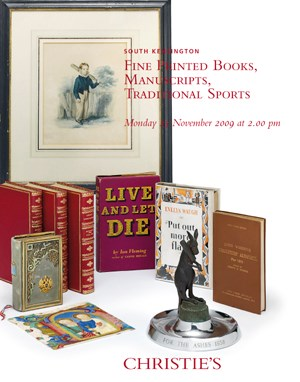 Fine Printed Books, Manuscript auction at Christies