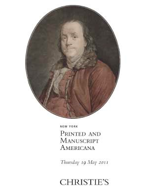 Printed & Manuscript Americana auction at Christies