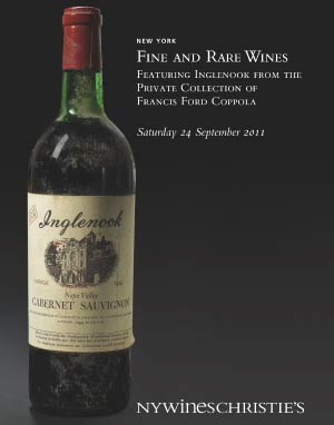 Fine and Rare Wines Featuring Inglenook from The Private Collection of Francis Ford Coppola