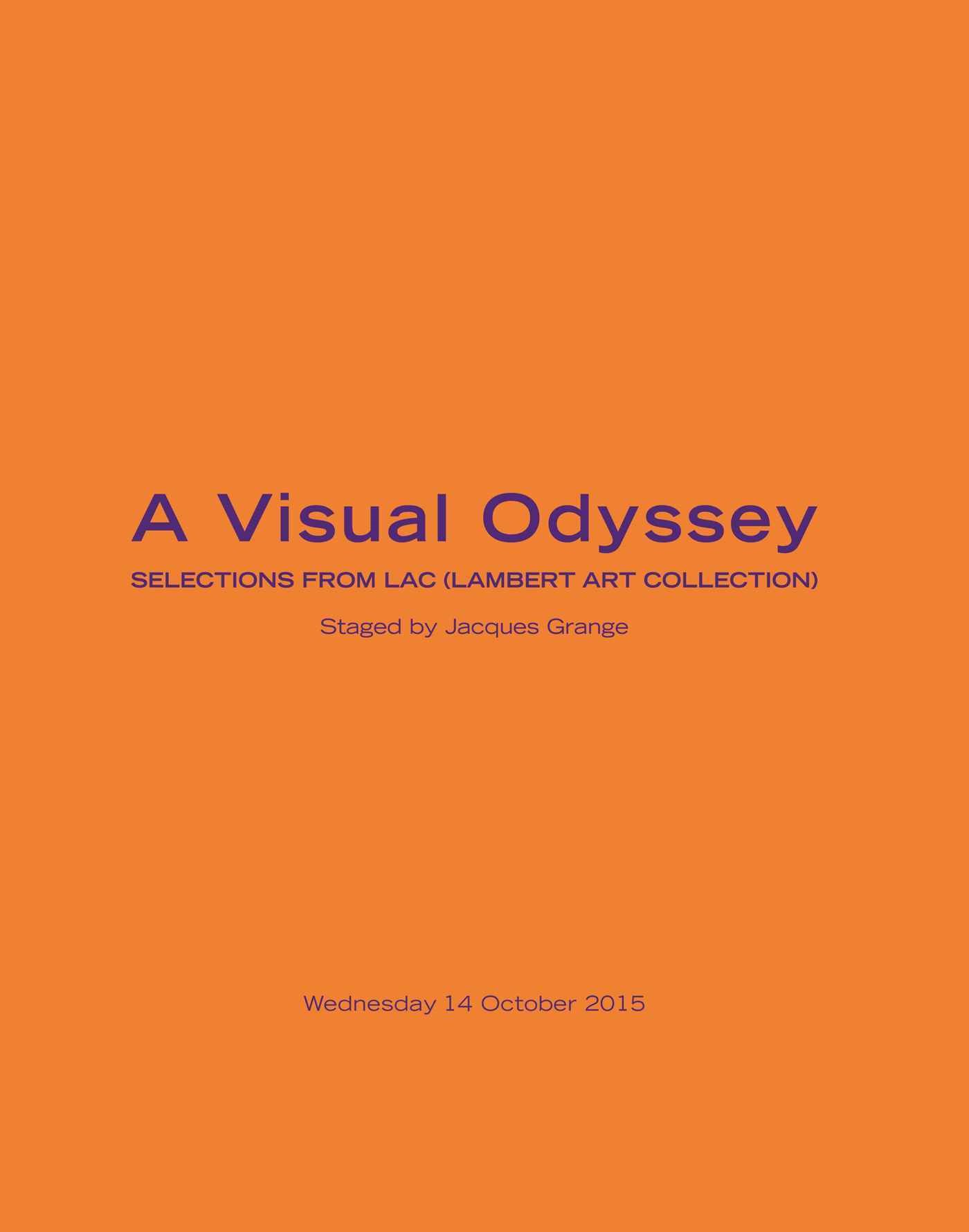 A Visual Odyssey Selections fr auction at Christies