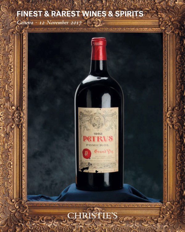 Finest and Rarest Wines and Sp auction at Christies