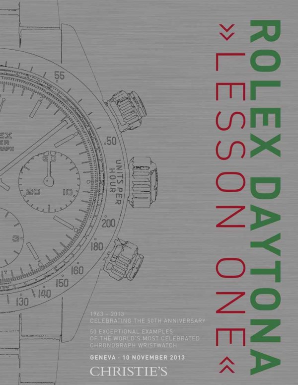 "Rolex Daytona ""Lesson One"" 50  auction at Christies"