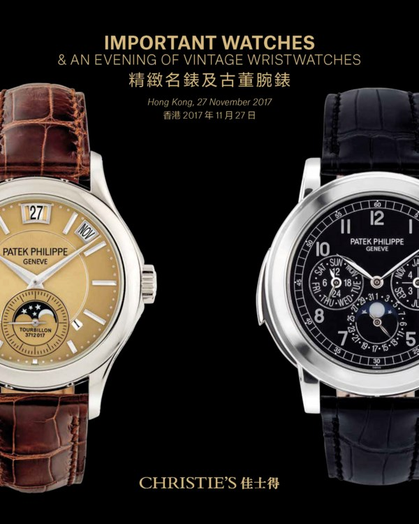Important Watches & an Evening auction at Christies