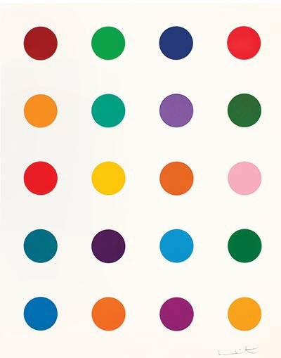 Damien Hirst: 3,575 1/2 Spots (and Three Small Mickeys)
