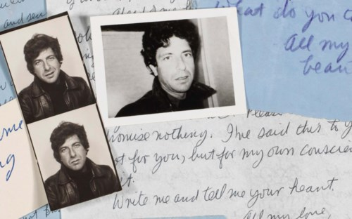 Write Me and Tell Me Your Heart: Leonard Cohen's Letters to Marianne