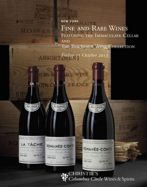 Fine and Rare Wines featuring the Immaculate Cellar and the Bordeaux Wine Collection