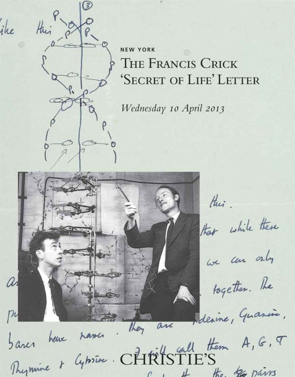 The Francis Crick Secret of Li auction at Christies