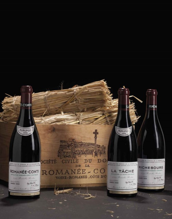 Fine Wine and Spirits Featurin auction at Christies
