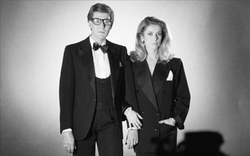 Catherine Deneuve et Yves Saint-Laurent