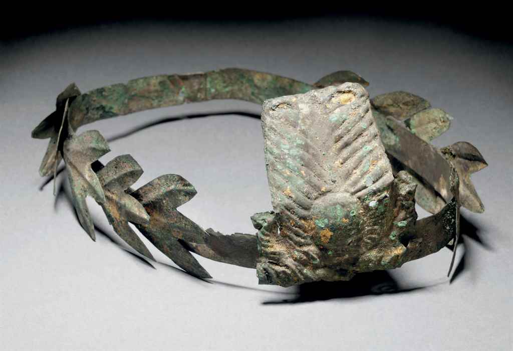 A ROMANO-EGYPTIAN GILT COPPER