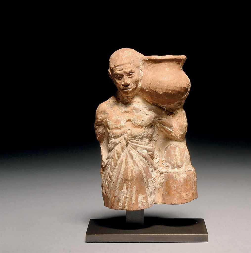 A ROMANO-EGYPTIAN TERRACOTTA F
