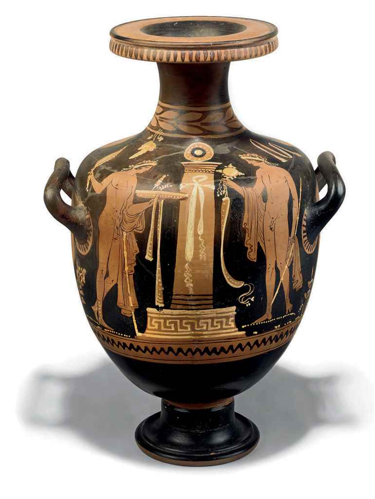 AN APULIAN RED-FIGURE HYDRIA