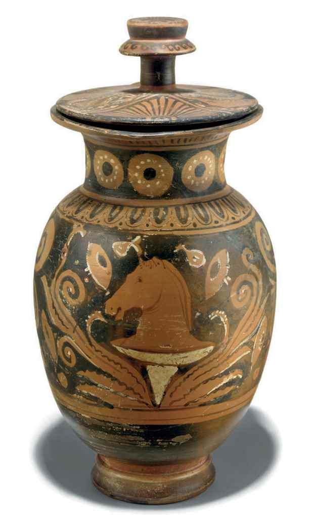 AN APULIAN RED-FIGURE LIDDED M