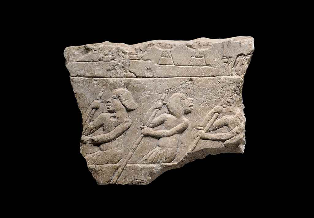 AN EGYPTIAN LIMESTONE 'AMARNA'