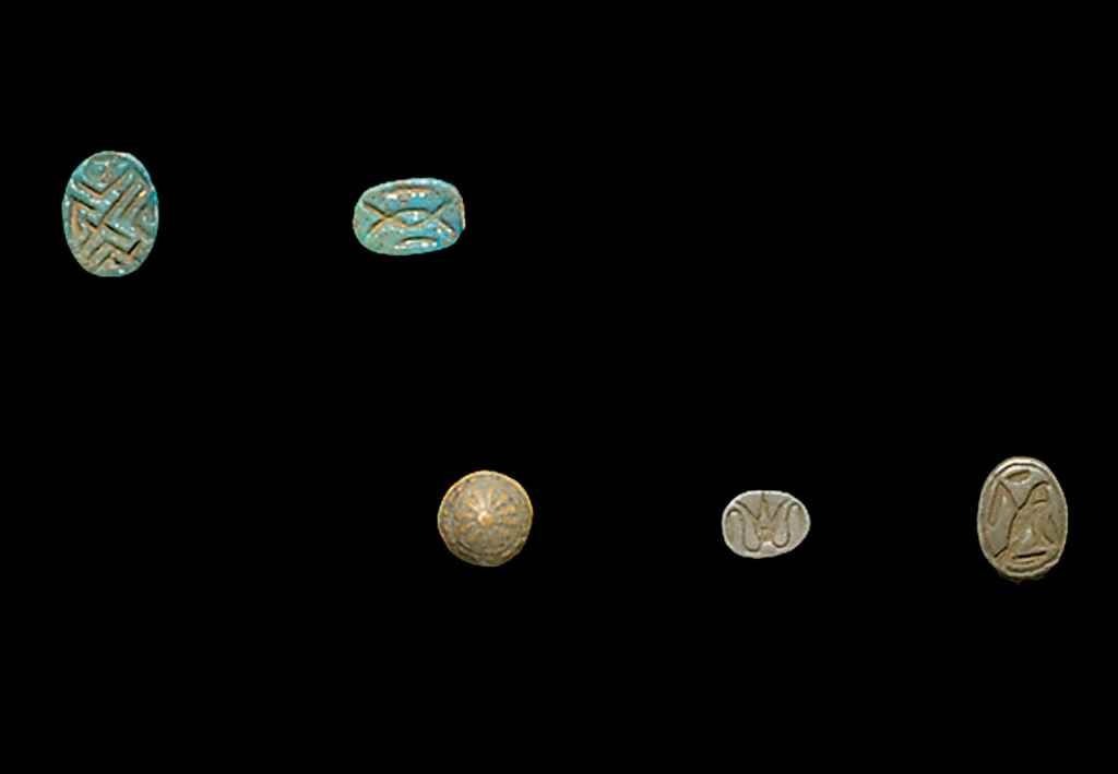 A GROUP OF EGYPTIAN FAIENCE SC