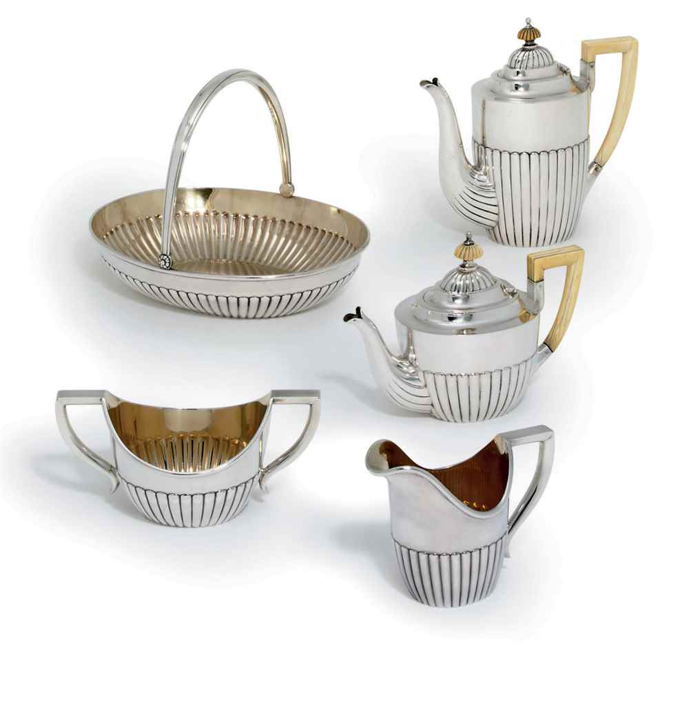 A Silver Tea and Coffee-Servic