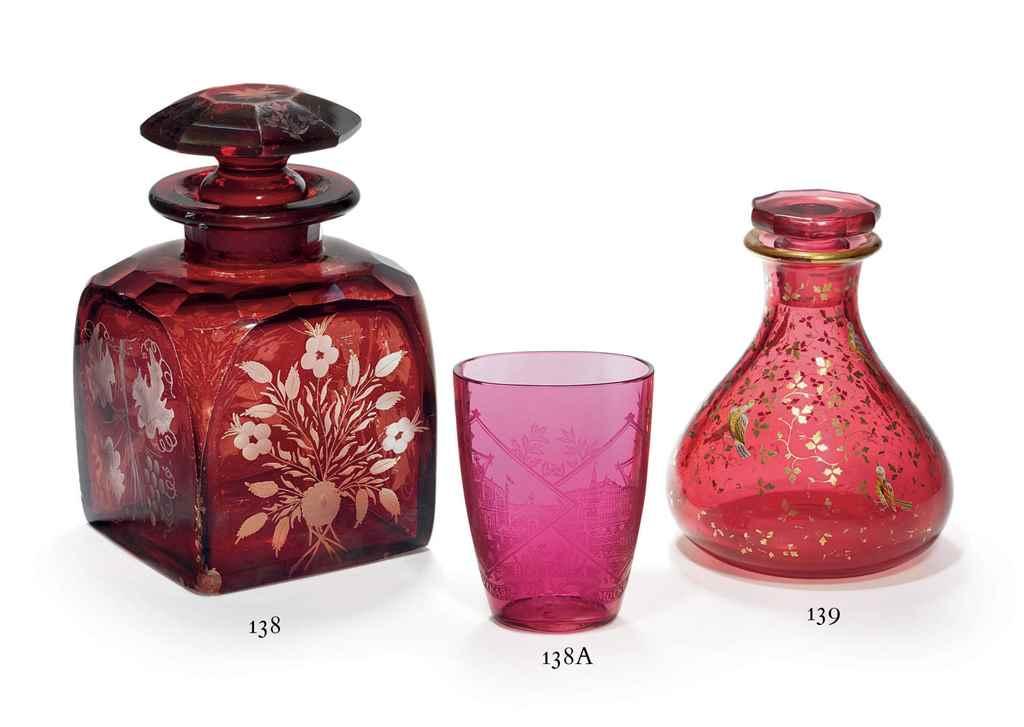 A Ruby Glass Tumbler