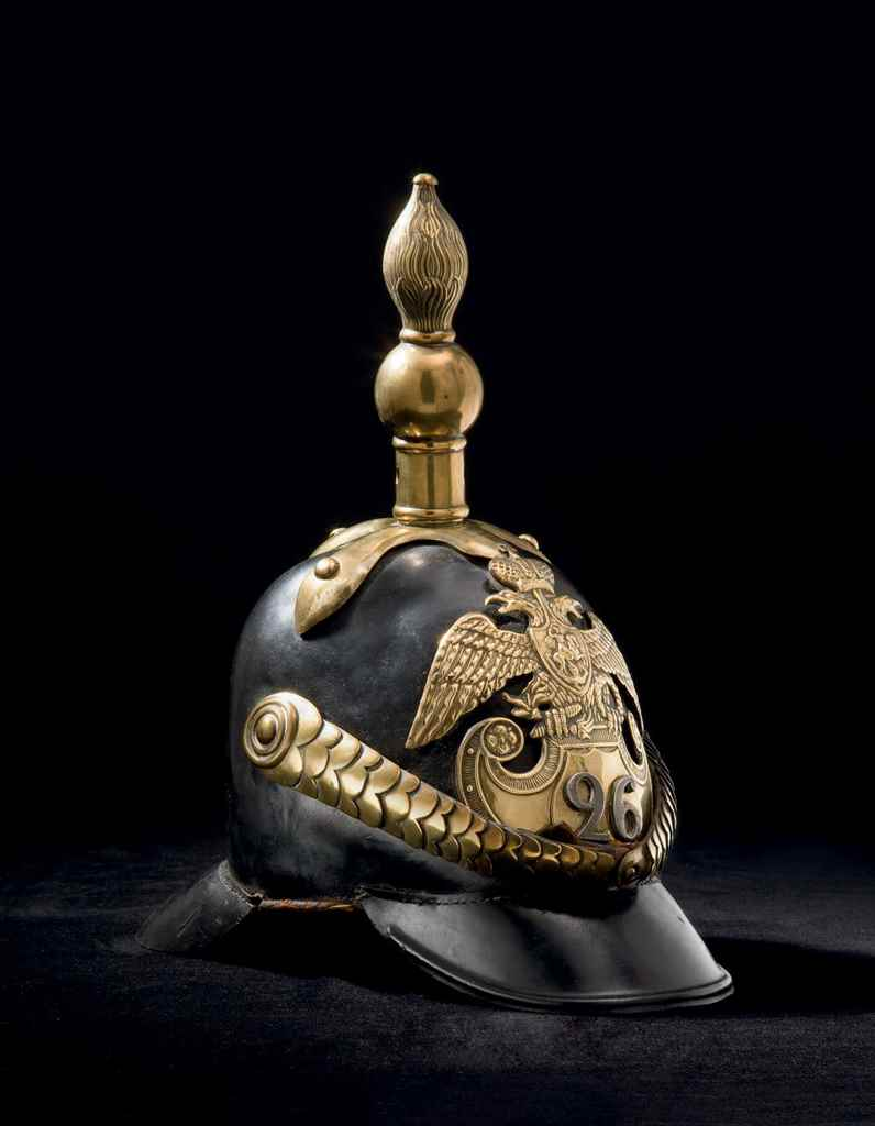 A Russian soldier's helmet of