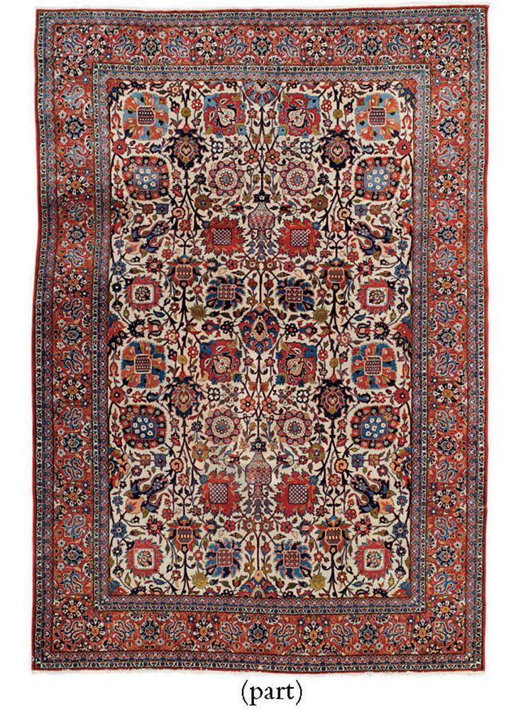 A fine Isfahan carpet & Tabriz