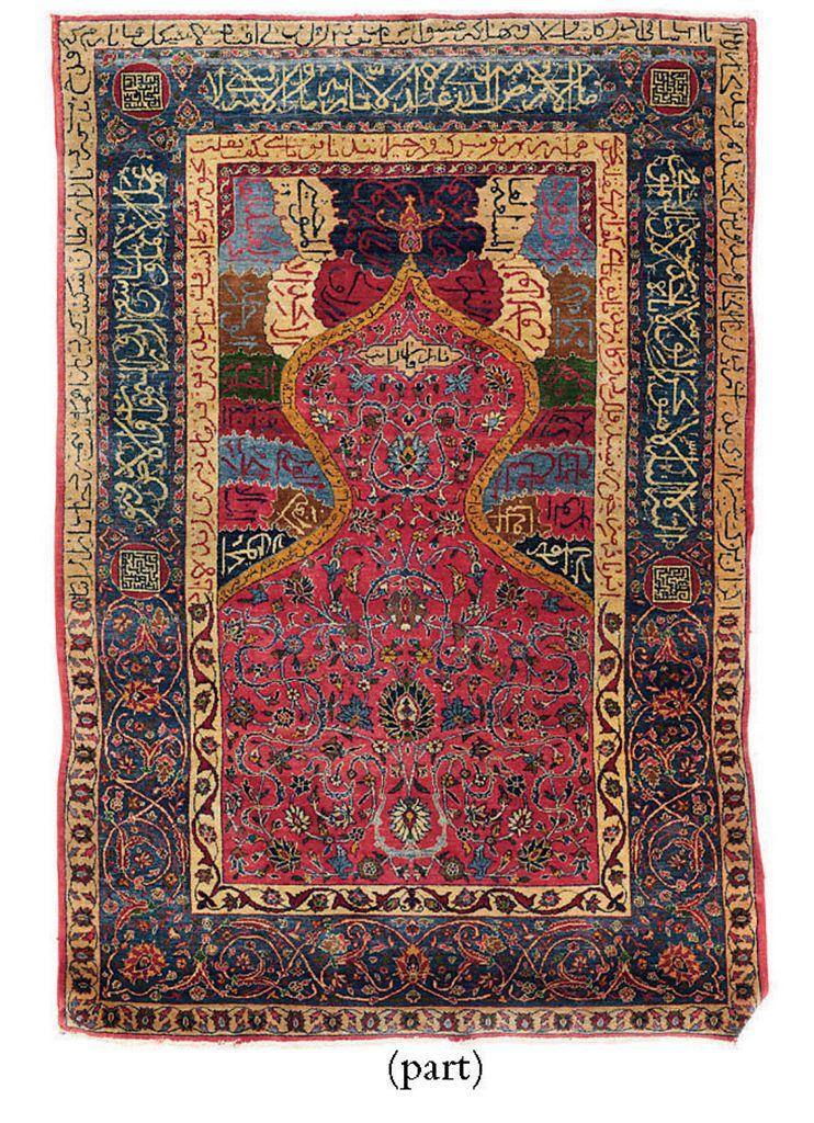 A fine Sarouk prayer rug & Sou