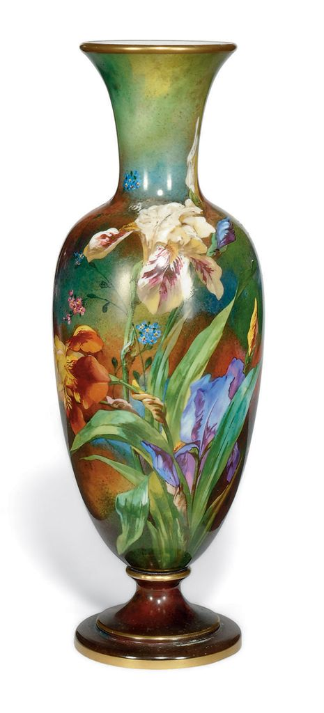 A FRENCH OPALINE GLASS VASE