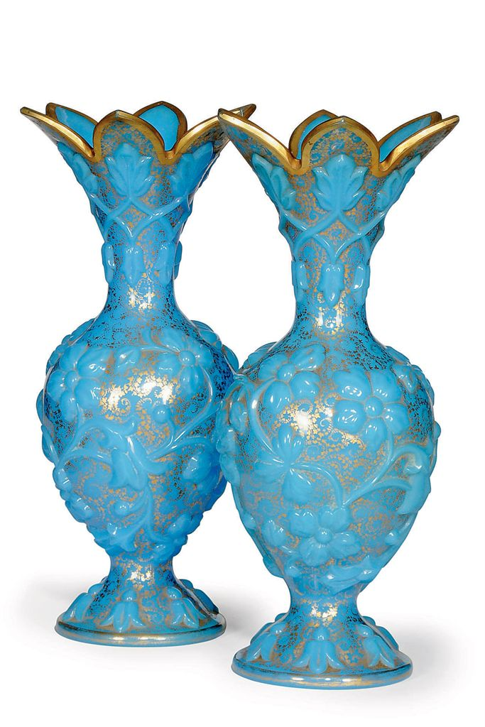 A PAIR OF TURQUOISE OPLAINE GL