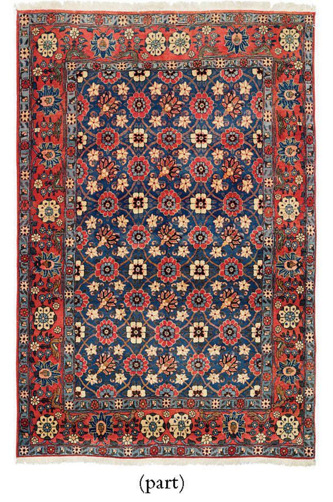A Veramin rug & Mazlaghan rug