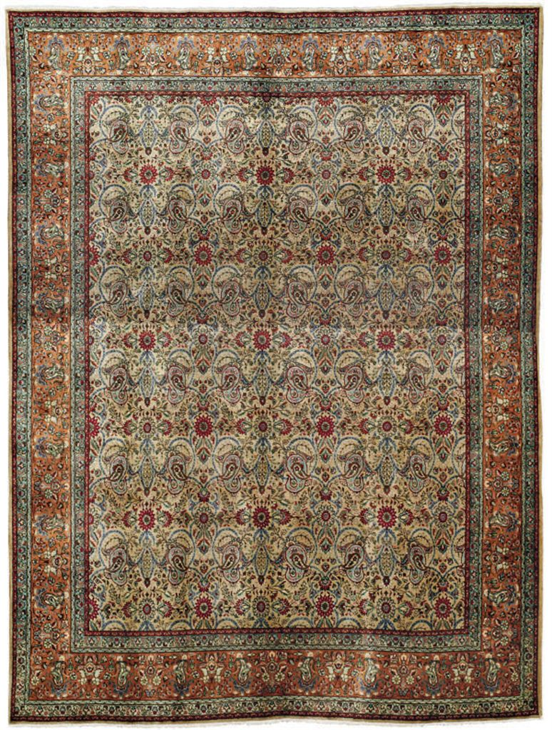 An unusual Tabriz carpet