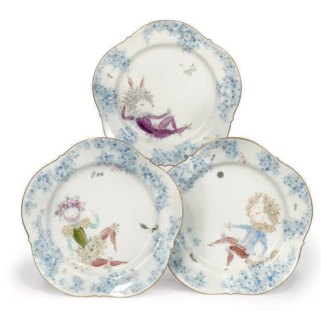 THREE MEISSEN 'MIDSUMMER NIGHT