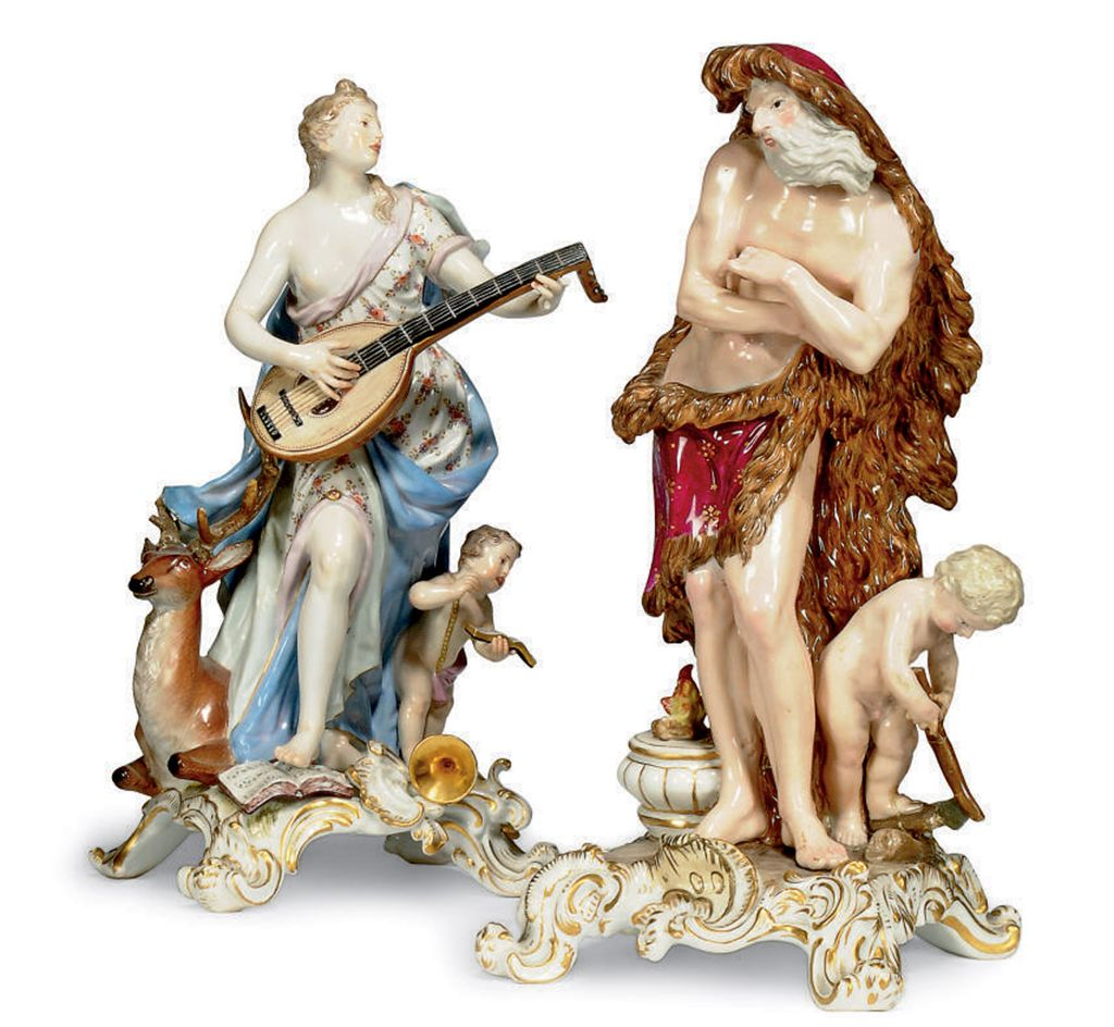 TWO MEISSEN ALLEGORICAL FIGURE