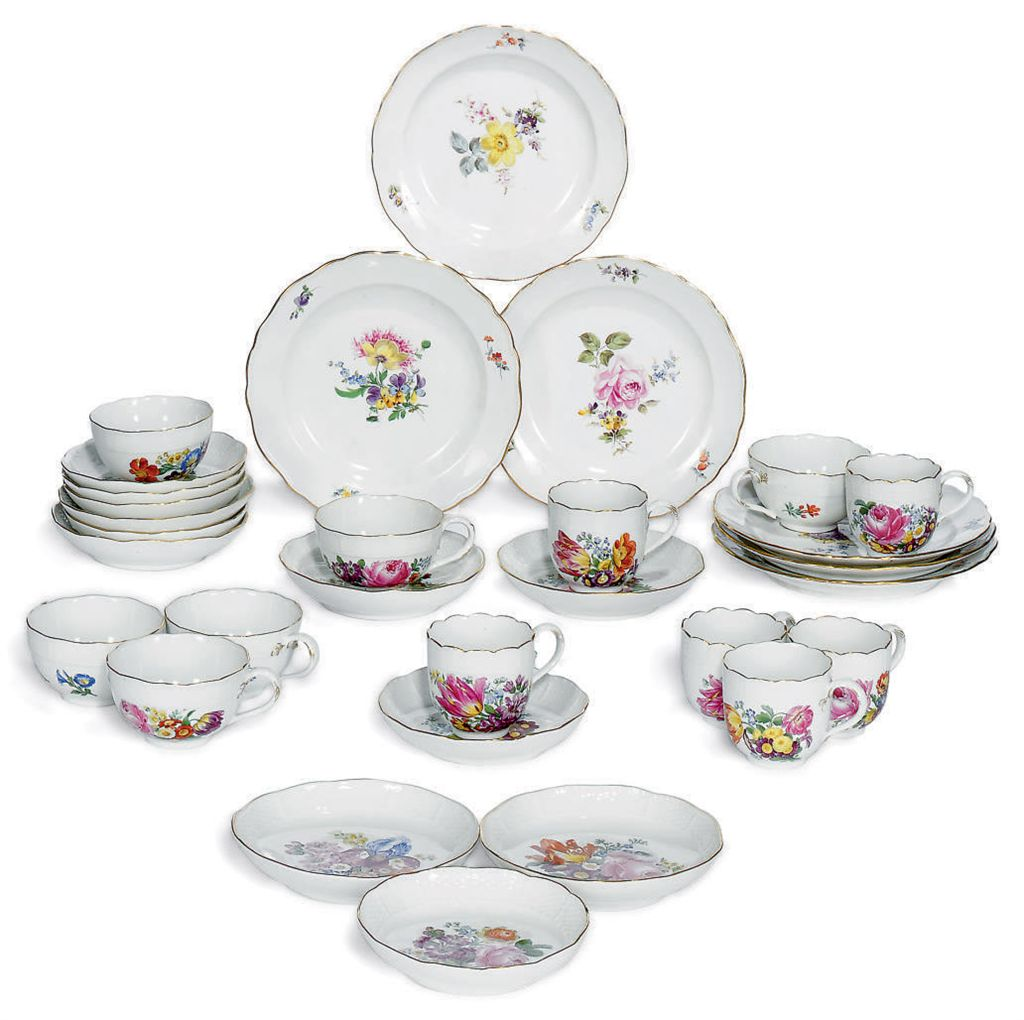 A MEISSEN COMPOSITE TEA AND CO