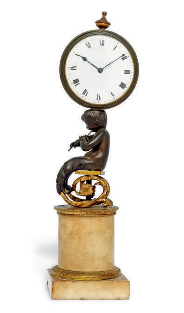 A REGENCY PATINATED BRONZE, OR