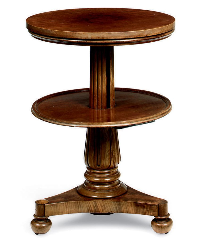 A WILLIAM IV MAHOGANY TELESCOP