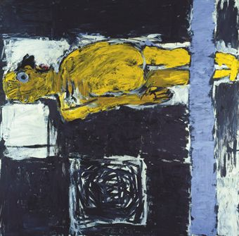 georg baselitz b 1938 franz im bett 20th century paintings christie 39 s. Black Bedroom Furniture Sets. Home Design Ideas