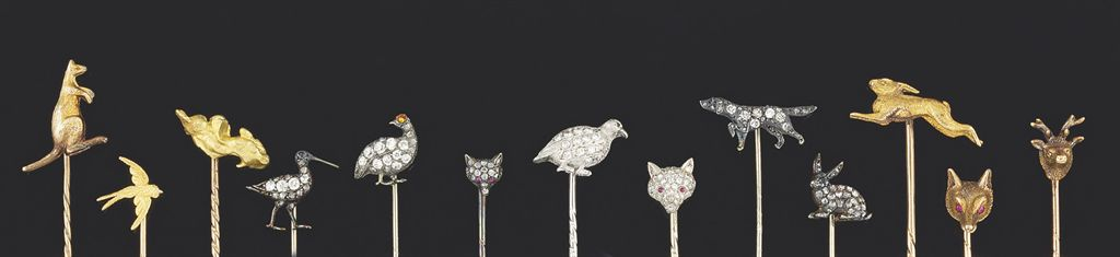 A group of late 19th century and 20th century stickpins