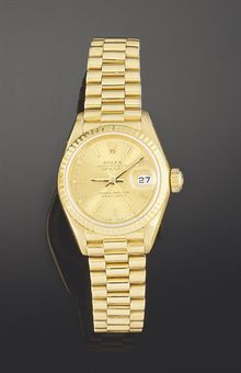 Swiss Rolex Oyster Perpetual Jubilee Datejust Full 18K Gold White MOP