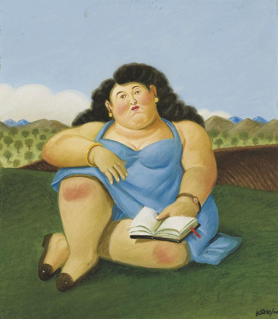 Fernando Botero (Colombian b. 1932) , La lectora  Christies