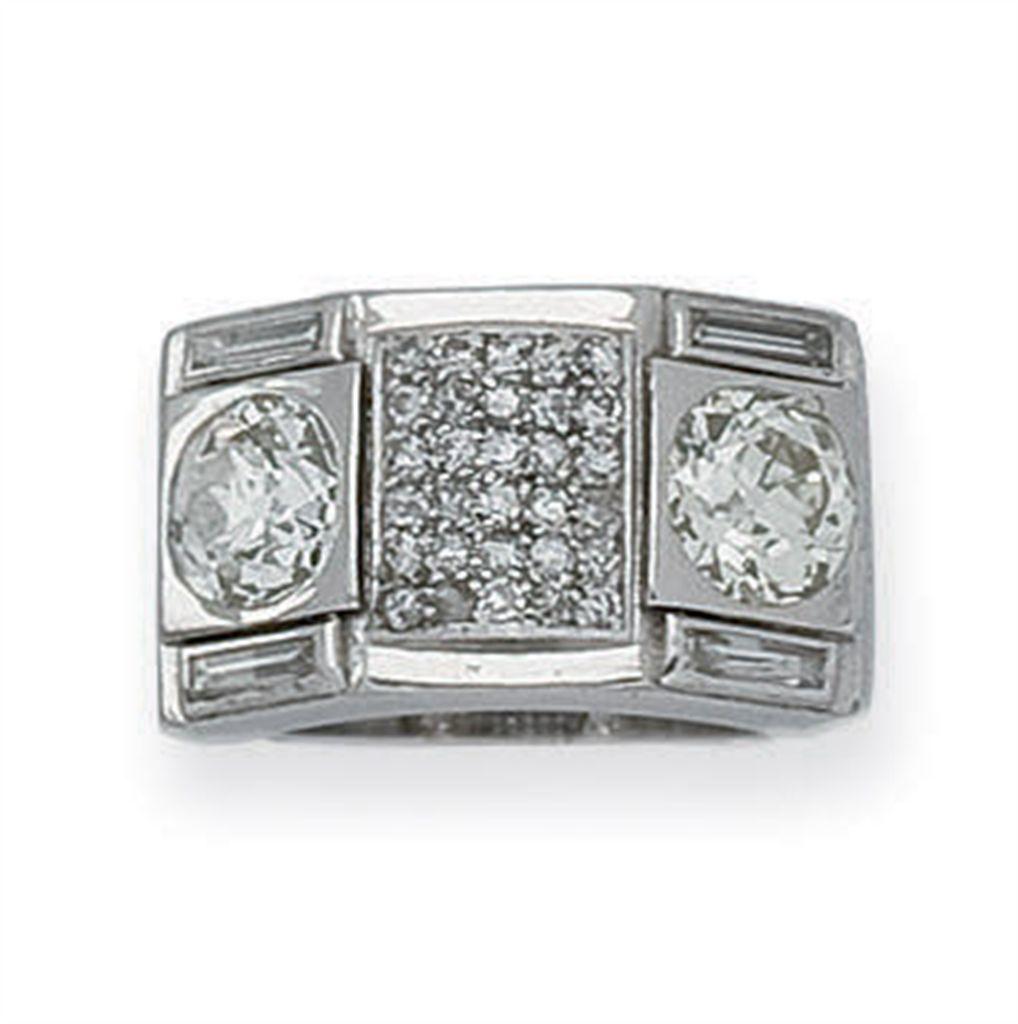 bague art deco diamants christie 39 s. Black Bedroom Furniture Sets. Home Design Ideas