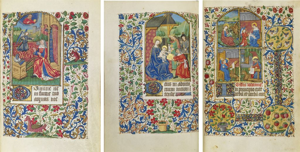 BOOK OF HOURS, use of Rouen, in Latin and French, ILLUMINATE...
