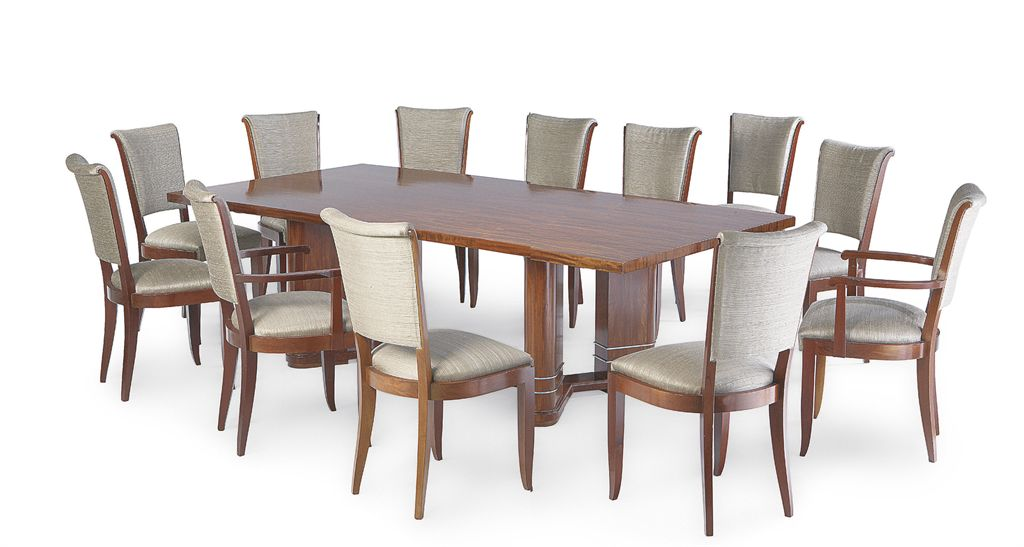 Jules leleu 1883 1961 mobilier de salle a manger vers for Table salle a manger design mobilier de france