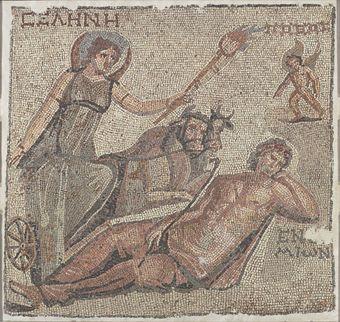 A Roman Marble Mosaic Panel Circa 3rd Century A D