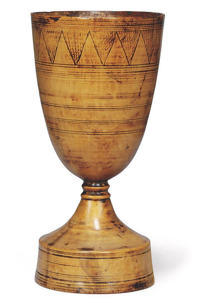 AN ELIZABETHAN SYCAMORE GOBLET