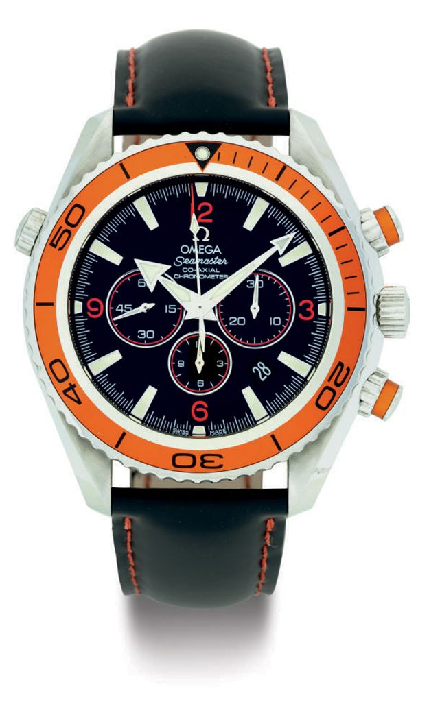 OMEGA A STAINLESS STEEL AUTOMATIC CHRONOGRAPH WRISTWATCH WI...