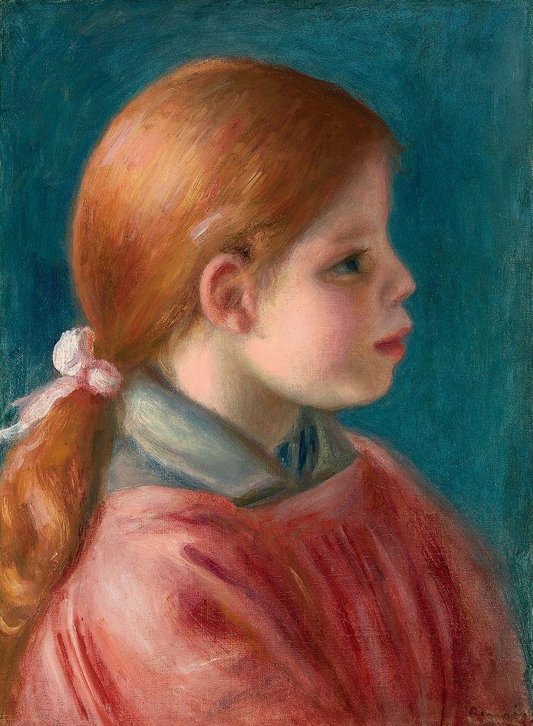 PierreAuguste Renoir (18411919) , Tête de jeune fille