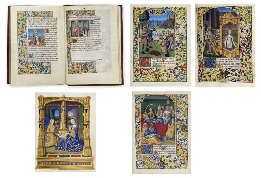 THE KATHERINA HOURS, use of Rome, in Latin and French, ILLUM...