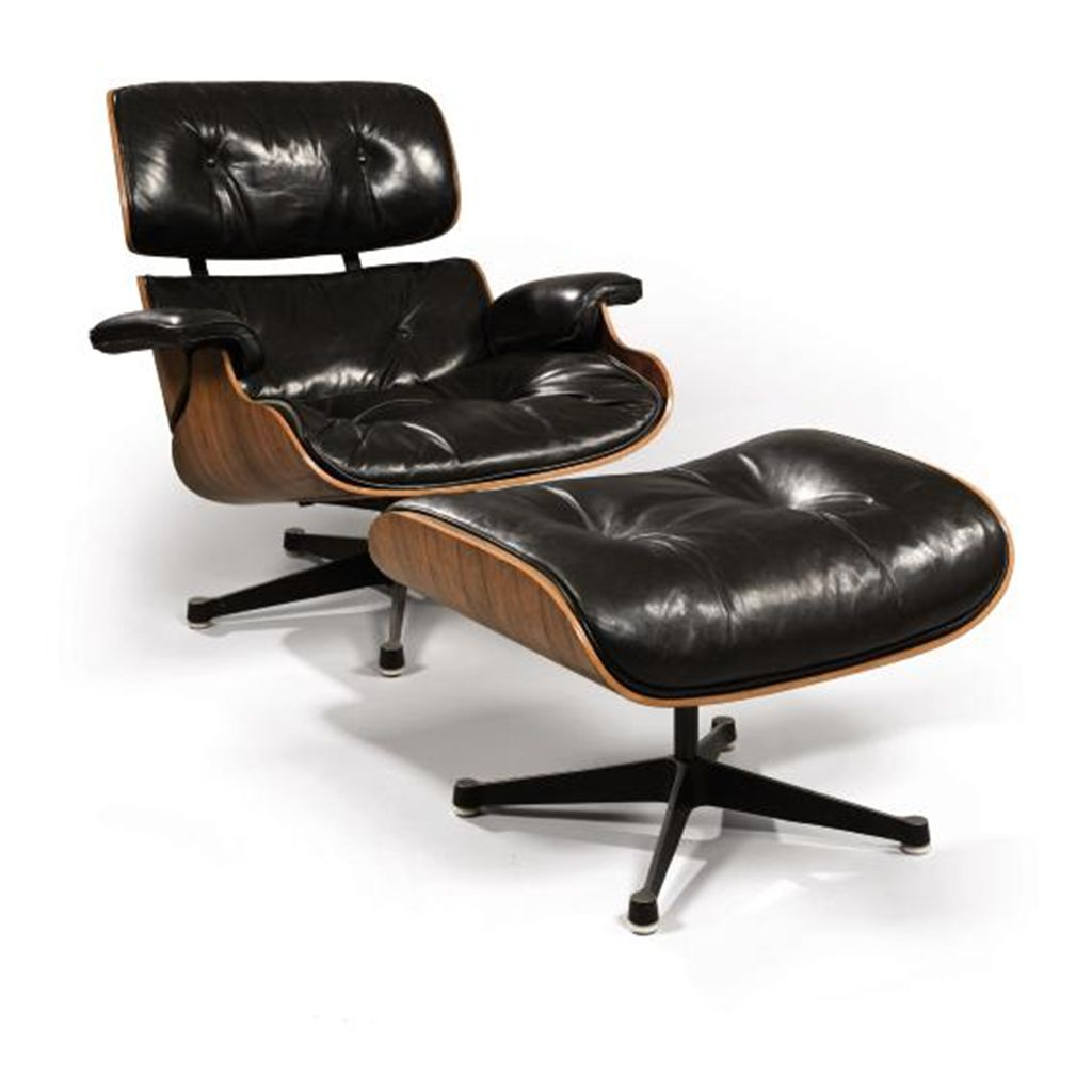 charles 1907 1978 et ray eames 1912 1988 pour herman miller fauteuil 39 670 39 et son repose. Black Bedroom Furniture Sets. Home Design Ideas