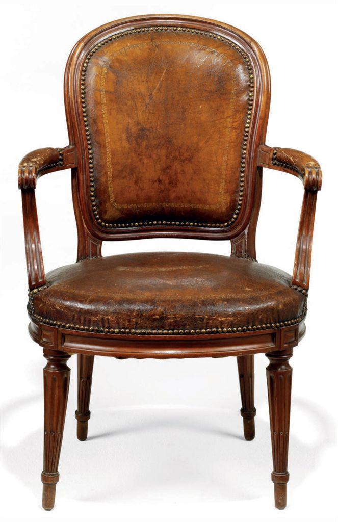 a louis xvi walnut fauteuil de bureau late 18th century. Black Bedroom Furniture Sets. Home Design Ideas
